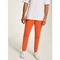 Mens Orange Woven Joggers, Orange