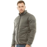Onfire Mens Funnel Neck Padded Jacket Grey