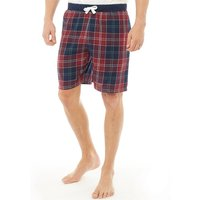 Onfire Mens Woven Checked Shorts Burgundy/Navy Check