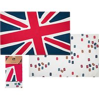 Jacks & Co Great Britain Tea Towel, Pack of Two, Red/Blue/White