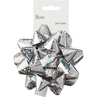 John Lewis & Partners Holographic Gift Bow