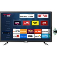 Sharp LC-24DHG6131KF LED HD Ready 720p Smart TV/DVD Combi, 24 with Freeview HD/Freeview Play, Miraca