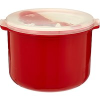 good2heat Microwave Rice Cooker with Lid, Red, 2.8L