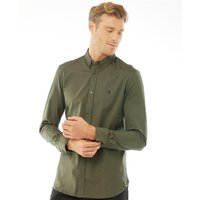French Connection Mens Oxford Long Sleeve Shirt Khaki