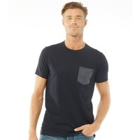 French Connection Mens Contrast Pocket T-Shirt Marine Melange