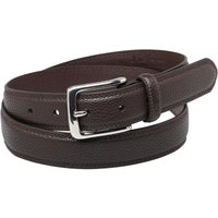 Ben Sherman Mens Classic Twin Stitch Belt Choc Brown
