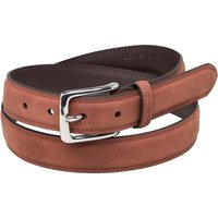 Ben Sherman Mens Classic Twin Stitch Belt Rust