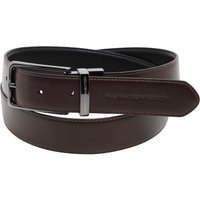 French Connection Mens Stitch Line Reversible Belt Black/Brown