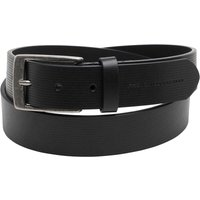 French Connection Mens Parallel Line Casual Belt Black
