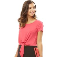 Only You Womens Ena Short Sleeve Bow Top Rose Red