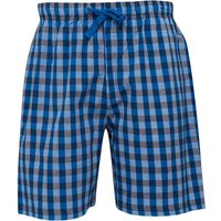 Fluid Mens Woven Check PJ Shorts Charcoal/Blue