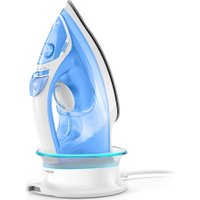 PHILIPS EasySpeed Advanced GC3672/26 Cordless Steam Iron - White & Blue, White