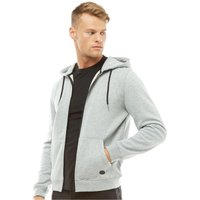 Fluid Mens Zip Through Fleece Hoody Grey Marl