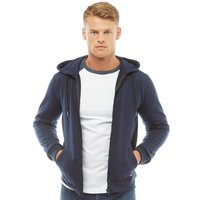 Fluid Mens Zip Through Fleece Hoody Navy