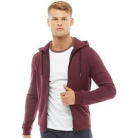 Fluid Mens Zip Through Fleece Hoody Wine