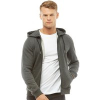 Fluid Mens Zip Through Fleece Hoody Charcoal Marl