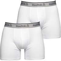 Reebok Mens Ainslie Performance Medium Two Pack Trunks White