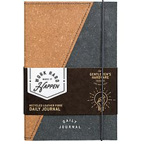 Gentlemen's Hardware Recycled Leather A5 Notebook, Black/Multi
