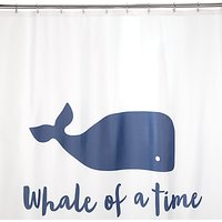 John Lewis & Partners Whale of a Time Shower Curtain