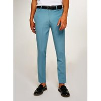 Mens Light Blue Skinny Smart Trousers, Blue