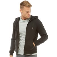 Fluid Mens Zip Through Fleece Hoody Black