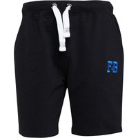 Fred & Boston Mens Sweat Shorts Black