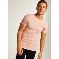 Mens Pink Ultra Muscle V Neck T-Shirt, Pink
