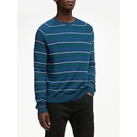 Kin Merino Blend Stripe Crew Neck Knit Jumper, Multi