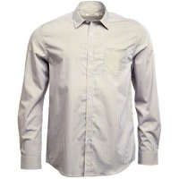 Onfire Mens Checked Long Sleeve Shirt White/Blue/Yellow