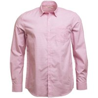 Onfire Mens Long Sleeve Shirt White/Pink