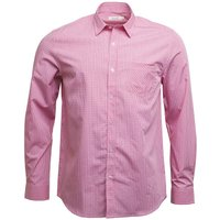 Onfire Mens Checked Long Sleeve Shirt Pink/White