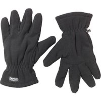 Kangaroo Poo Mens Thinsulate Polar Fleece Gloves Black