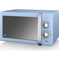 SWAN SM22130BLN Solo Microwave - Blue, Blue