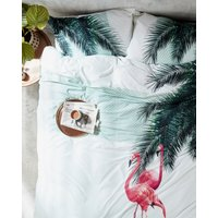 Tropical Print Super King Duvet Cover