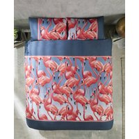 Flamingo Cotton Pillowcase Pair
