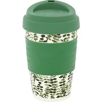 Waitrose Leaves Reusable Plastic Coffee Cup, 355ml, Green