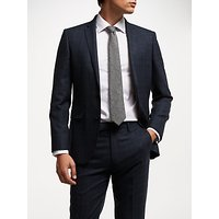 John Lewis & Partners Wool Check Tailored Suit Jacket, Navy