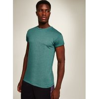 Mens Green Skinny Fit Rolled Sleeve T-Shirt, Green