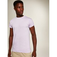 Mens Purple Skinny Fit Rolled Sleeve T-Shirt, Purple