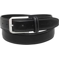 French Connection Mens Double Stitch Casual Belt Black