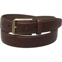 French Connection Mens Double Stitch Casual Belt Brown