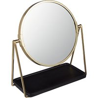 House by John Lewis Brass Tray Pedestal Mirror