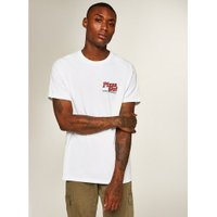 Mens White Pizza T-Shirt, White