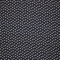 Oddies Textiles Butterfly Stamp Print Cotton Fabric, Navy