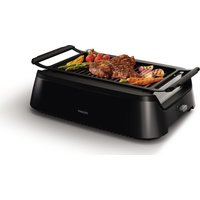 PHILIPS Smokeless HD6370/91 Family Grill - Black, Black