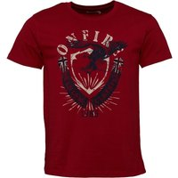 Onfire Mens T-Shirt Red