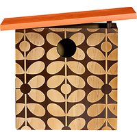 Orla Kiely Wooden 60s Bird House, Orange