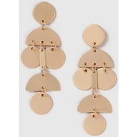 Womens Shape Drop Earrings- Gold, Gold