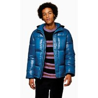 Mens Navy Blue Puffer Jacket, Navy