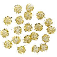 Habico Small Tinsel Pom Poms, Pack of 20
